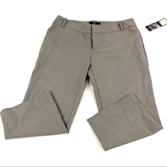 Mossimo Supply Co. Pants - Mossimo Women's Gray Capri Slacks 6 NWT